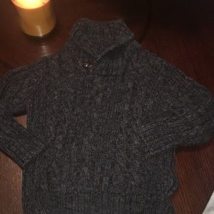 Boys 3T cable knit sweater - with button